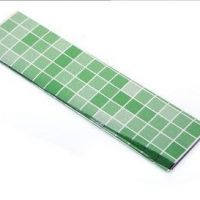Decal dán tường Dán bếp gạch xanh lá