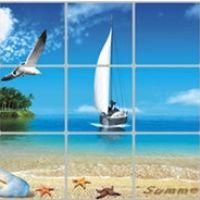 Decal dán tường Dán bếp Hải âu và Thuyền buồm