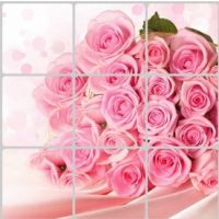Decal dán tường Dán bếp hoa hồng 1