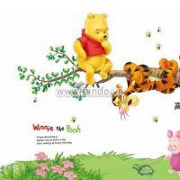 Decal dán tường Gấu pooh leo cây