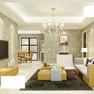Giấy dán tường 3d họa tiết hoa vàng 1