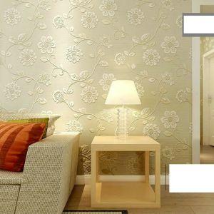 Decal dán tường Giấy dán tường 3d họa tiết hoa vàng 2