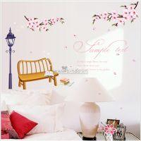 Decal dán tường Hoa đào mùa xuân