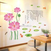 Decal dán tường Hoa sen 7