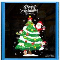 Decal dán tường Noel 107 - Ông già noel và cây thông