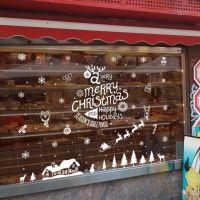 Decal dán tường Noel 80 -noel tuần lộc và nhà tuyết