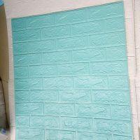 Decal dán tường xốp dan tường xanh thiên thanh 4mm