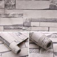 Decal dán tường Giấy decal cuộn gạch xám trắng 2