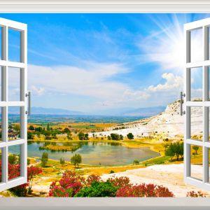 Tranh cửa sổ pamukkale