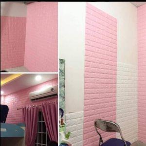 Xốp dán tường màu hồng phấn 7mm