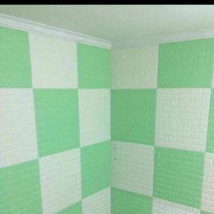 Decal dán tường xốp dán tường xanh ngọc 4mm