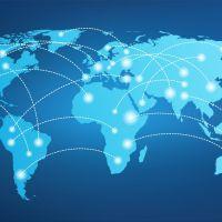 Decal dán tường Tranh bản đồ thế giới sô 4