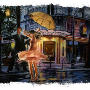 Tranh Dancing đường phố Torn Edges