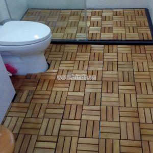 Sàn gỗ phòng tắm IKEA