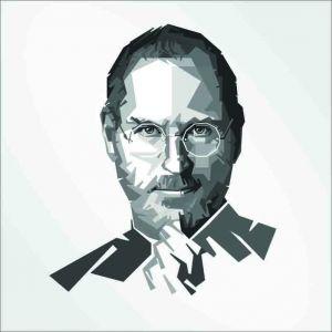 Tranh vẽ chân dung Steve Jobs