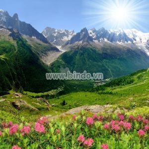 Tranh cảnh Savoy Alps-Châu Âu