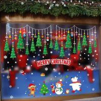 Decal dán tường Noel 101 - Dây treo thông trang trí và thú
