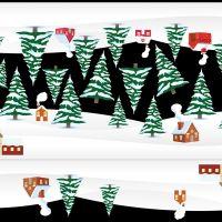 Decal dán tường Trang trí Noel chân tuyết 3m