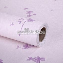 Decal dán tường Giấy decal cuộn hoa tím