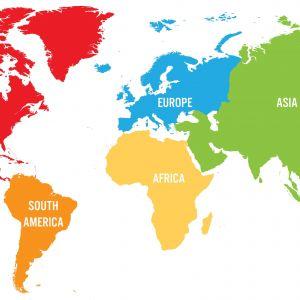 Tranh dán tường bản đồ thế giới