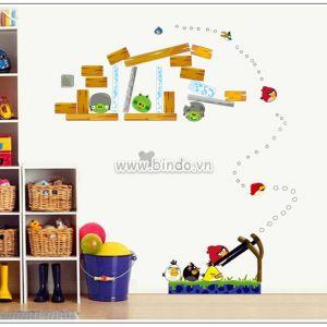 Decal dán tường Angry Birds 3