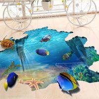 Decal dán tường Cá đại dương 3D