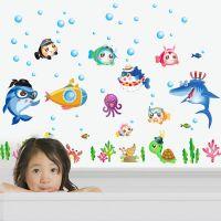 Decal dán tường Cá đại dương 7