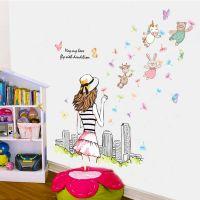 Decal dán tường Cô gái và vườn thú