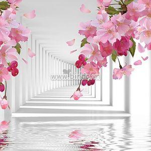 Con đường hoa râm bụt 3D