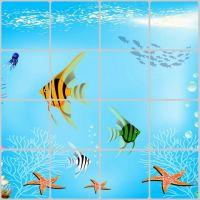 Decal dán tường Dán bếp cá đại dương 1