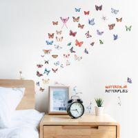 Decal dán tường Đàn bướm sắc màu