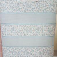 decal dán tường hoa văn sọc xanh