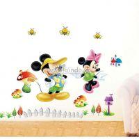 Decal dán tường Đôi bạn Mickey