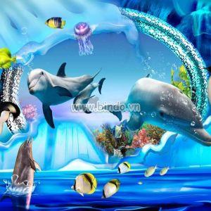 Đôi cá heo 3D