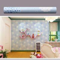 Decal dán tường Giấy decal cuộn hoa tú cầu xanh