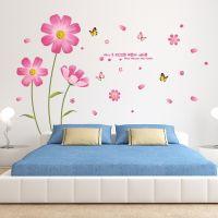 Decal dán tường Hoa cúc hồng
