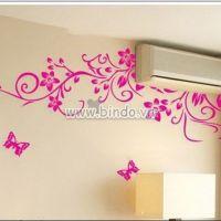 Decal dán tường Họa tiết hoa hồng