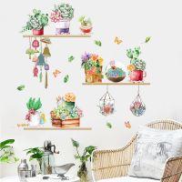 Decal dán tường Những chậu hoa sắc màu