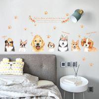 Decal dán tường Những chú chó đáng yêu