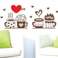 Decal dán tường Những tách cà phê