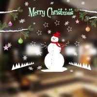Decal dán tường Noel 111 - Người tuyết và cây trang trí