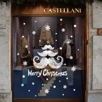 Decal dán tường Noel 119 - Chữ Giáng Sinh và bông tuyết