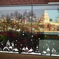 Decal dán tường Noel 60 -Ngôi nhà tuyết