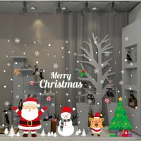 Decal dán tường Noel 87 -Ông già noel và bạn