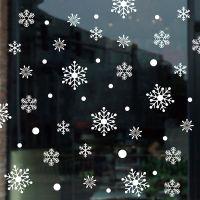 Decal dán tường Noel 92 -Hoa tuyết trắng rơi
