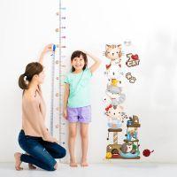 Decal dán tường Thước đo mèo xếp hàng