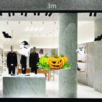 Decal dán tường Trang trí Halloween bí ngô,bóng ma và dơi