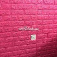 Decal dán tường Xốp dán tường màu hồng đậm (8mm)
