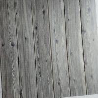 Decal dán tường Xốp giả gỗ xám ghi 5mm
