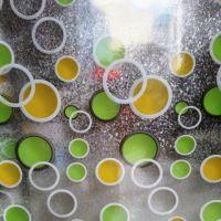 Decal dán tường Dán kính kim tuyến hình tròn đủ màu